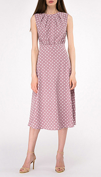 Розовое платье-миди Shako в белый горох, фото
