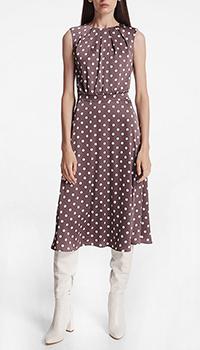 Коричневое платье-миди Shako, фото