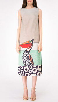Платье-миди Shako с изображением тукана, фото