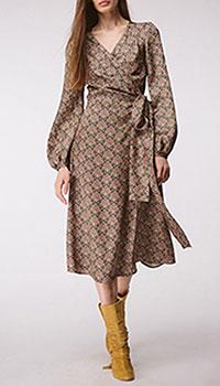 Платье на запах Shako с принтом, фото