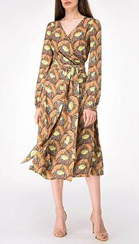 Платье с длинным рукавом Shako принтованное лотосами, фото