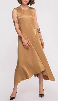 Золотистое платье Shako с ассиметричным низом, фото