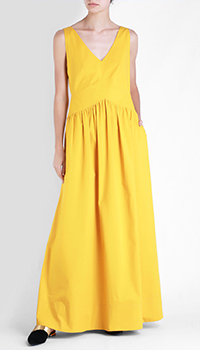 Желтое платье в пол Beatrice.B из хлопка, фото