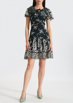 Черное платье Three Floor с цветочным узором, фото