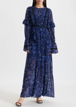 Синее платье Three Floor с длинным рукавом, фото
