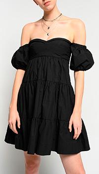 Ярусное платье Pinko с открытыми плечами, фото