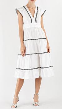 Платье Pinko белого цвета, фото