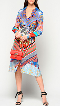 Платье-рубашка Pinko с принтом в восточном стиле, фото