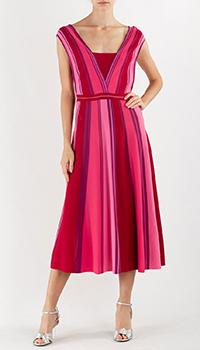 Платье Pinko в полоску с открытой спиной, фото