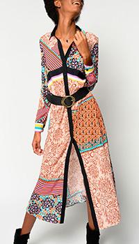 Платье-рубашка Pinko с принтом , фото