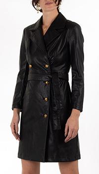 Платье Pinko черного цвета из экокожи, фото