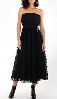 Черное платье Pinko с открытыми плечами, фото