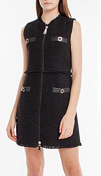 Платье на молнии Pinko черного цвета, фото
