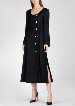 Черное платье Nina Ricci на пуговицах, фото