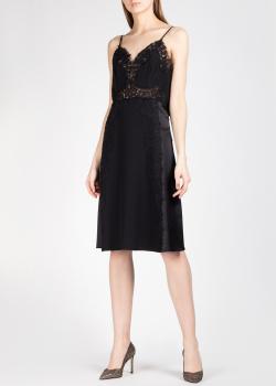 Шелковое платье Alberta Ferretti с кружевными вставками, фото