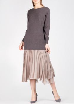 Комбинированное платье Fabiana Filippi с плиссированной юбкой, фото
