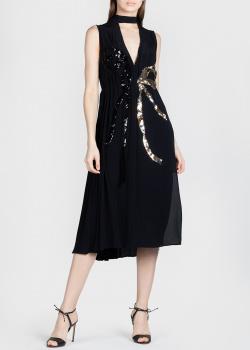 Черное платье N21 с бантом из пайеток, фото