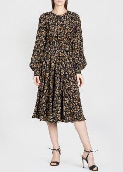 Шелковое платье N21 с цветочным принтом, фото