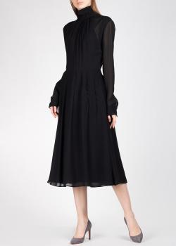 Черное платье Rochas с длинным рукавом, фото