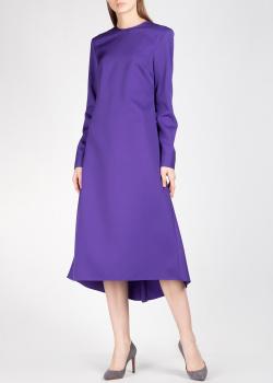 Фиолетовое платье Rochas с асимметричным подолом, фото