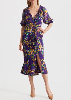 Шелковое платье Saloni с цветочным принтом, фото