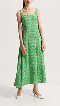 Зеленое платье Shako на широких бретелях, фото