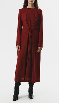 Красное платье-миди Shako из тонкой шерсти, фото