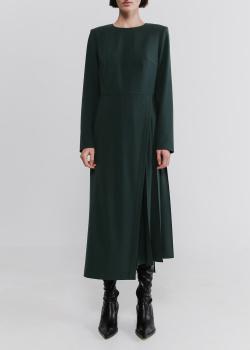 Темно-зеленое платье Shako с вставкой плиссе, фото