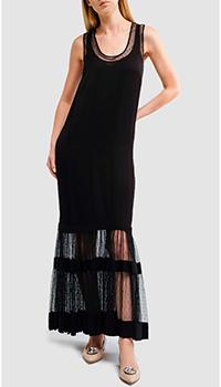 Черное платье Twin-Set с плиссировкой, фото