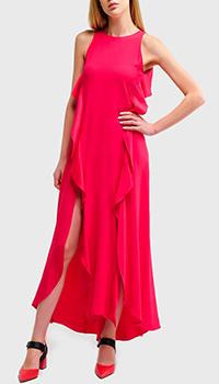 Платье Twin-Set с разрезами ярко-красного цвета, фото