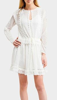 Короткое платье Twin-Set с кружевом, фото