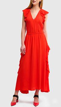 Платье Twin-Set с оборками из шелка, фото