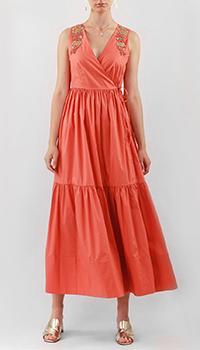 Красное платье Twin-Set с вышивкой бисером, фото