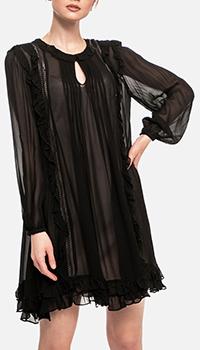 Черное платье Twin-Set в черном цвете, фото