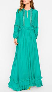 Зеленое платье Twin-Set в пол, фото