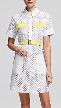 Платье-рубашка Karl Lagerfeld с перфорацией, фото