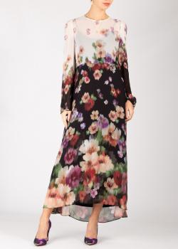 Длинное платье Twin-Set с растительным принтом, фото