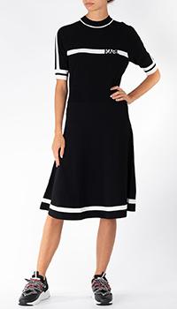 Трикотажное платье Karl Lagerfeld черного цвета, фото