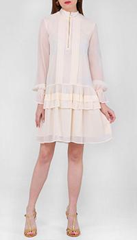 Платье Twin-Set с оборками цвета слоновой кости, фото