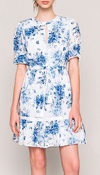 Белое платье Twin-Set с флористическим принтом, фото