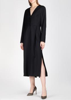 Черное платье Nina Ricci с разрезами по бокам, фото
