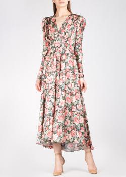 Длинное платье Paco Rabanne с флористическим принтом, фото