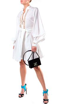 Белое платье Forte Dei Marmi Couture с длинным рукавом, фото