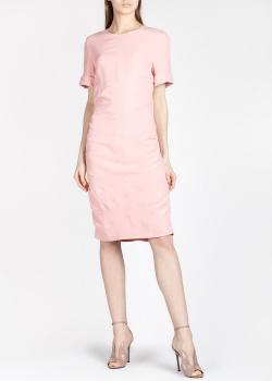 Розовое платье Self Portrait с бантом на спине, фото
