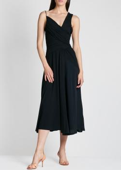 Черное платье N21 с асимметричными бретелями, фото