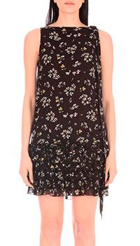 Черное платье Be Blumarine с цветочным принтом, фото