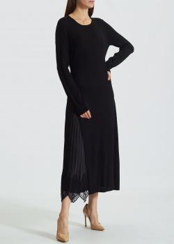 Длинное трикотажное платье Twin-Set с вырезом на спине, фото