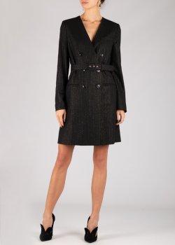 Черное платье Twin-Set в полоску, фото