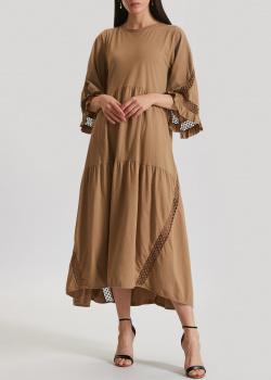 Коричневое платье Dorothee Schumacher расклешенного кроя, фото