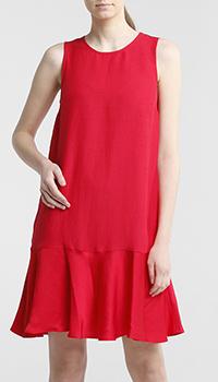 Красное платье Twin-Set с вырезом на спине, фото